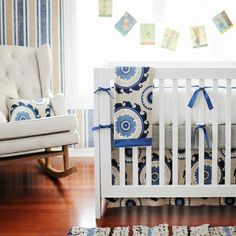 Dakota Blue 3-Piece Crib Bedding Set