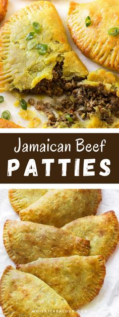 Thin, flaky and buttery yellow crust with a mighty seasoned curried beef filling. Make a big batch because this Jamaican beef patty will disappear fast! #beef #beefpatties #jamaicanpatties #snack @whiskitrealgud | whiskitrealgud.com Bite Size Appetizers, Yummy Appetizers, Jamaican Beef Patties, Healthy Finger Foods, Beef Patty, Green Powder, Pastry Blender, Curry Powder, Small Plates
