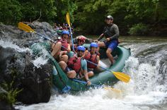 Bumping in a rock on the Tenorio River rafting tour Guanacaste, Costa Rica #rafting #fun #cool