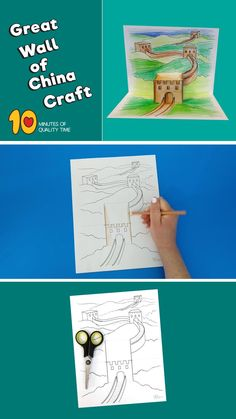 New Year's Crafts, Easy Arts And Crafts, Crafts For Kids, China For Kids, Art For Kids, 3d Craft, Art N Craft, Toddler Fine Motor Activities, Around The World Theme