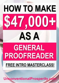 General proofreaders can make an income from home by proofreading all types of documents for other people. - Earn Money at home Earn More Money, Ways To Earn Money, Way To Make Money, Work From Home Moms, Make Money From Home, Make Money Online, Legit Online Jobs, Proofreader, Making Extra Cash