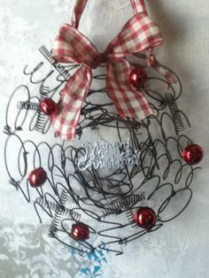 rusty bed springs wreath