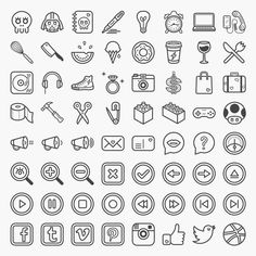 Coucou is a set of 64 fun and quirky icons. Available in .PSD, .AI, .EPS, and .PNG files.