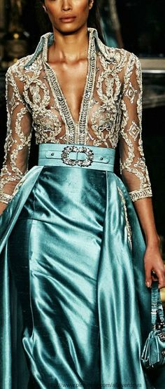 Zuhair Murad - the see throughness kinda bothers me... but I love the color and pattern, maybe if it was worn more appropriately
