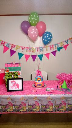 A Pinkie Pie Party. My Little Pony Party.
