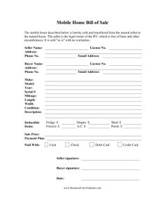 free printable rv bill of sale form form generic sample printable legal forms for attorney. Black Bedroom Furniture Sets. Home Design Ideas