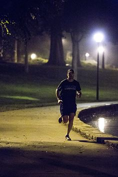 Jimmie Johnson runs, bikes, or swims nearly every day as part of his triathlon training. One Wednesday morning last fall, at 5:30 a.m., he joined a group of local runners who train with Coach Jamey Yon of TRi-Yon Performance.