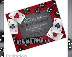 Items similar to Casino Party Invitations - Gamble Love . Casino Birthday Invitation, Casino Event Invitation, Casino Invite, Printable Casino Invitation on Etsy Casino Night Party, Casino Theme Parties, Party Themes, Vegas Party, Vegas Theme, Themed Parties, Party Ideas, Cards Diy, Diy Game