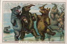ink in the glacial period, tarjeta de felicitación de la imprenta Thomas De La Rue (Finales del S. X