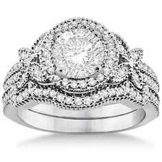 Matching Wedding Rings Band Diamond Engagement Sets Bands Halo Jewelry