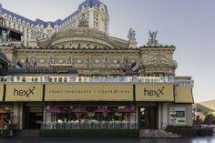 Great brunch, cuisine and cocktails. Free tours at HEXX chocolate & confexxions restaurant located Paris Casino in Las Vegas