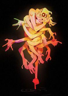 Monster are his thing Creature Concept Art, Creature Design, Arte Horror, Horror Art, Arte Obscura, Art Et Illustration, Monster Design, Creepy Art, Grafik Design