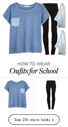 """classic old school"" by volleyballspikr on Polyvore featuring J Brand, MANGO and Vans"