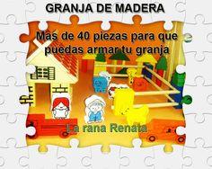 Granja para armar en Madera  www.laranarenata.com.ar