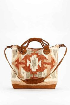 Stela 9 Sophia Leather Blanket Tote Bag - Urban Outfitters