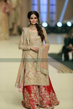 Gharara Pakistani bridal ensemble.