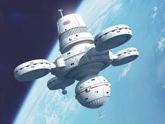 Paul's Spaceship Pictures — Deep Space Station DSS Oberon in Bryce. Space Ship Concept Art, Concept Ships, Spaceship Design, Spaceship Concept, Cyberpunk, Star Trek, Space Opera, Sci Fi City, Sci Fi Spaceships