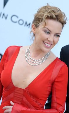 Kylie Minogue wore Chopard at the amfAR auction held during Cannes Film Festival to raise money for AIDS research