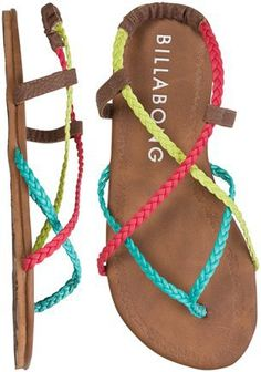 (1) rgrover21's save of BILLABONG CROSSING OVER SANDAL | Swell.com on Wanelo