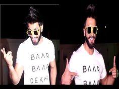 Ranveer Singh at special screening of BAAR BAAR DEKHO movie.