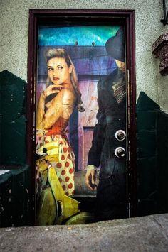 Urban street art graffiti wheat paste paste up on Guerrero @ 19th Street in San…