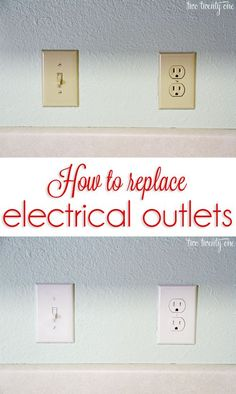 Get rid of those outdated almond-colored outlets! How to replace electrical outlets!.
