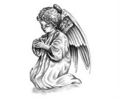 Angel Tattoo Design Idea
