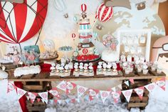 Image result for hot air balloon table decorations