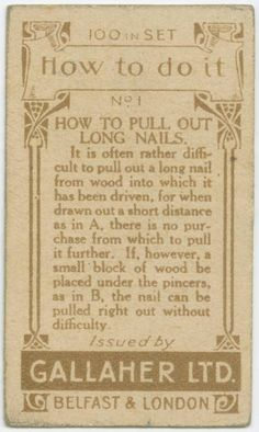 LIFE HACKS FROM 100 YEARS AGO THAT ARE STILL USEFUL IN TODAY'S SOCIETY - Album on Imgur