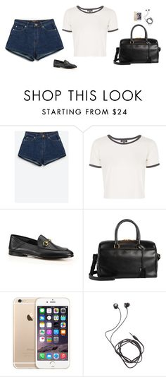 """Untitled #1833"" by tayloremily218 on Polyvore featuring Zara, Topshop, Gucci, Yves Saint Laurent and Diane Von Furstenberg"