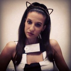 Pin for Later: 36 Real People Who Nailed Their Celebrity Halloween Costumes Ariana Grande Capture the pop princess's look with her signature half-up-half-down, high-pony look, penchant for cat ears, and Twiggy-inspired dresses.