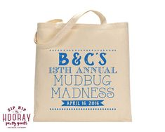 Crawfish Boil Party Favors Mudbugs Party Personalized Tote Bags Welcome Bags Wedding Favors Custom Cotton Totes Monogrammed Bags 1430 by SipHipHooray