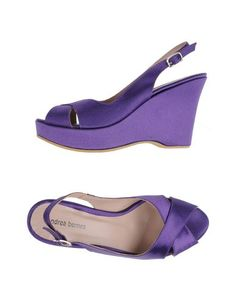 Andrea Bernes Purple Satin Wedge $138