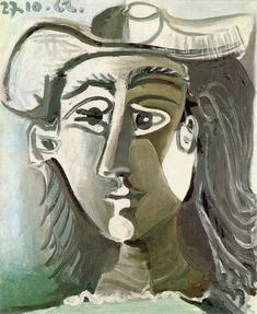 """Pablo Picasso - """"Head of a Woman with Hat"""", 1962"""