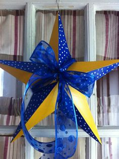 My WVU inspired star.  Gonna make one of these to replace the one in my den...and another for outside. :)