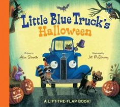 Beep! Beep! It's Halloween! Little Blue Truck is picking up his animal friends for a costume party.