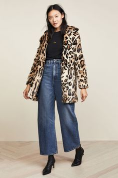 9a87810826c0 Apparis Margot Faux Fur Coat Leopard Print Coat, Cool Street Fashion,  Street Style,