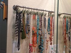 Use shower hooks for your jewelry or scarfs!