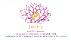 floral business card | Cards Designs Ideas