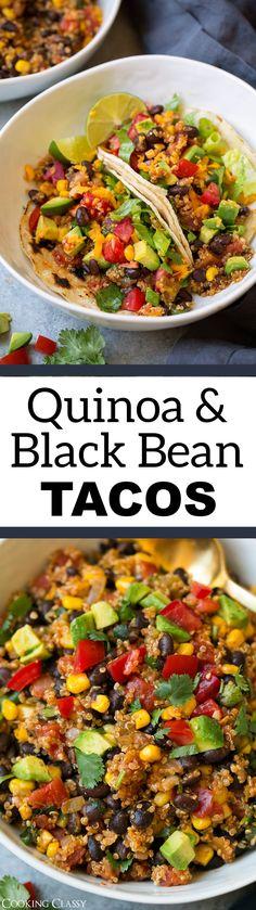 Quinoa, Black Bean and Corn Tacos - Cooking Classy