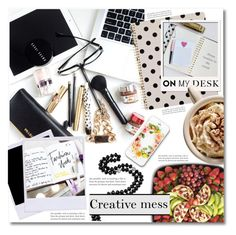 """""""What's on My Desk?"""" by dolly-valkyrie ❤ liked on Polyvore featuring interior, interiors, interior design, home, home decor, interior decorating, Kate Spade, Garance Doré and onmydesk"""