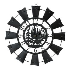 Go to Black Forest Decor now and take savings up to on rustic clocks and wildlife clocks, such as this Bear Lodge Windmill Wall Clock!