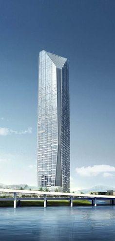 Mindian Tower, Xiamen, China :: 76 floors, height 339m, proposal