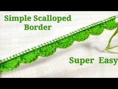 Baby Knitting Patterns Scalloped Border Very Very Simple & Easy for Knitting and Crochet Baby Knitting Patterns, Knitting Stiches, Knitting Videos, Knitting Projects, Cast On Knitting, Knitting Basics, Easy Knitting, Knitting For Beginners, Knit Edge