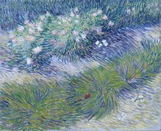 Vincent Van Gogh / Grass and Butterflies, Oil on canvas, private collection. Image courtesy Van Gogh Museum Amsterdam check out the brush strokes for the grass-path? Paul Gauguin, Vincent Van Gogh, Van Gogh Museum, Art Museum, Art Van, Flores Van Gogh, Desenhos Van Gogh, Van Gogh Arte, Theo Van Gogh