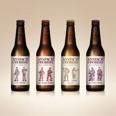 Label design from an award winning branding project with start up craft beer clients Anspach & Hobday. #design #graphicdesign #type #typography #logo #branding #illustration #packaging #craftbeer #beer