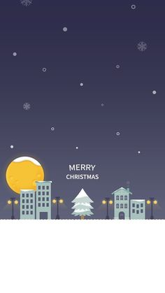 Merry Christmas Snow City Wallpaper
