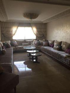 Salon marocain blanc cassé chic - Amenda decor | صالون مغربي ...