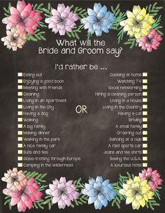 Wedding games for reception icebreakers bridal shower Ideas for 2019 Printable Bridal Shower Games, Wedding Shower Games, Wedding Games, Our Wedding, Dream Wedding, Wedding Ideas, Wedding Things, Fall Wedding, Wedding Decor
