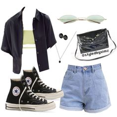 accessories Besides the tube top Ill go for a regular t shirt Teen Fashion Outfits, Kpop Outfits, Mode Outfits, Look Fashion, Korean Fashion, Girl Outfits, Prep Fashion, School Outfits, Fashion Dresses
